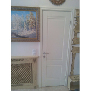 дверь 1Х эшвайт, фото в интерьере