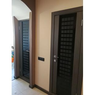 дверь 8Х Венге, стекло Futura в интерьере