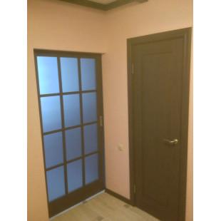 дверь 102х пекан темный в интерьере