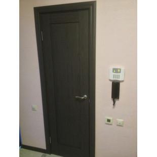 дверь 100х пекан темный в интерьере