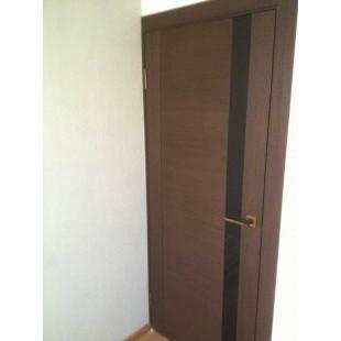 дверь 62Х венге со стеклом черный лак в интерьере