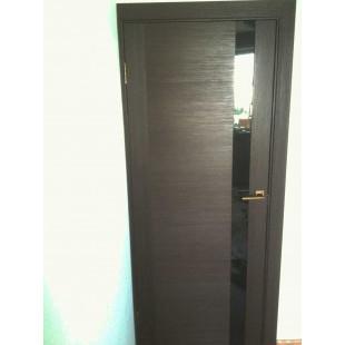 дверь 62Х венге в интерьере (продольный распил наличника)