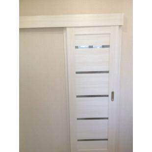 7х эшвайт раздвижная дверь в интерьере