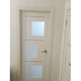 дверь 13Х эшвайт мелинга в интерьере
