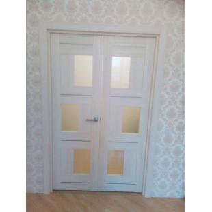 дверь 13Х эшвайт, распашная в интерьере