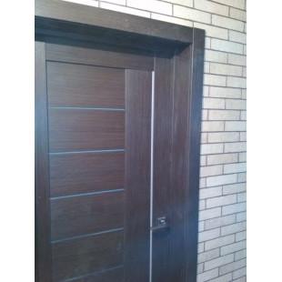 Фото двери 17х малага черри кроскут в интерьере