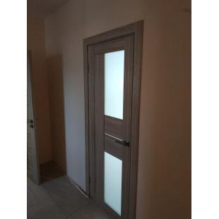 Фото двери 44х капучино в интерьере