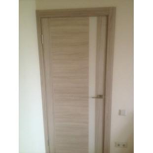 Фото двери 62Х капучинно в интерьере