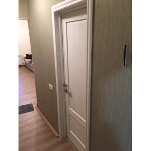 фото двери в интерьере 105x пекан белый