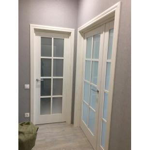 фото дверь 101Х пекан белый в интерьере