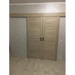 фотография раздвижной двери 20Х капучино в интерьере