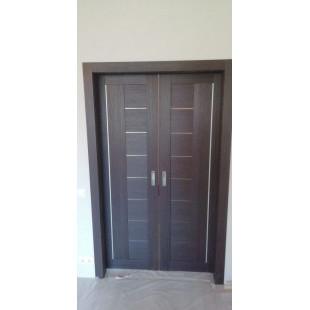 фото раздвижной двери 17Х венге в интерьере