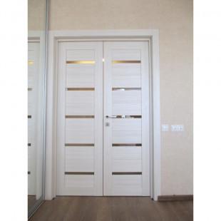 7Х эшвайт распашная дверь в интерьере