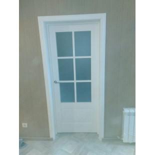 дверь 103Х пекан белый фото в интерьере